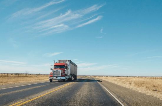 truck drives down Ohio road