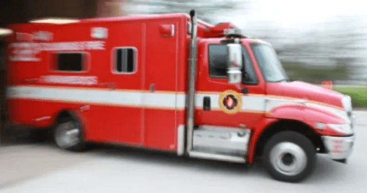 ambulance rushing in to save people from accident